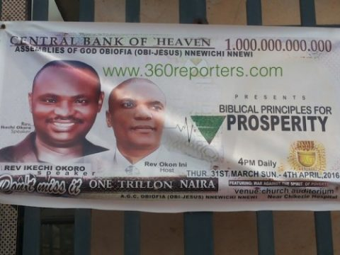 "Central Bank of Heaven – Check Out this ""Hilarious"" Church Poster"