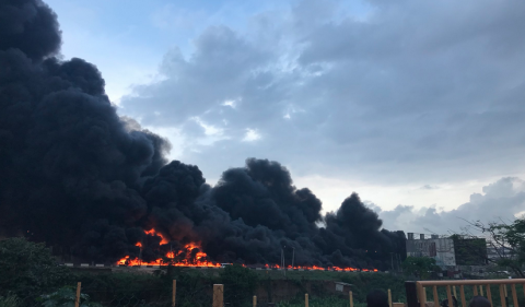 Otedola Bridge Accident – Many Dead as Petrol Tanker Explodes along Lagos Ibadan Express Way